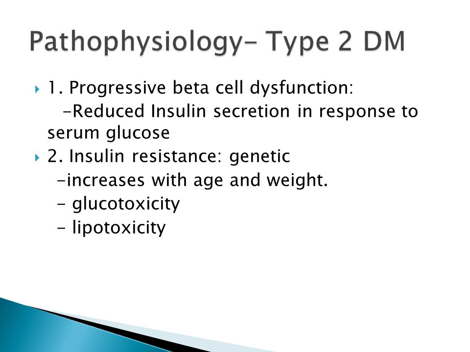 Pathophysiology- Type 2 DM