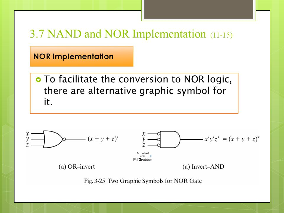 3.7 NAND and NOR Implementation (11-15)