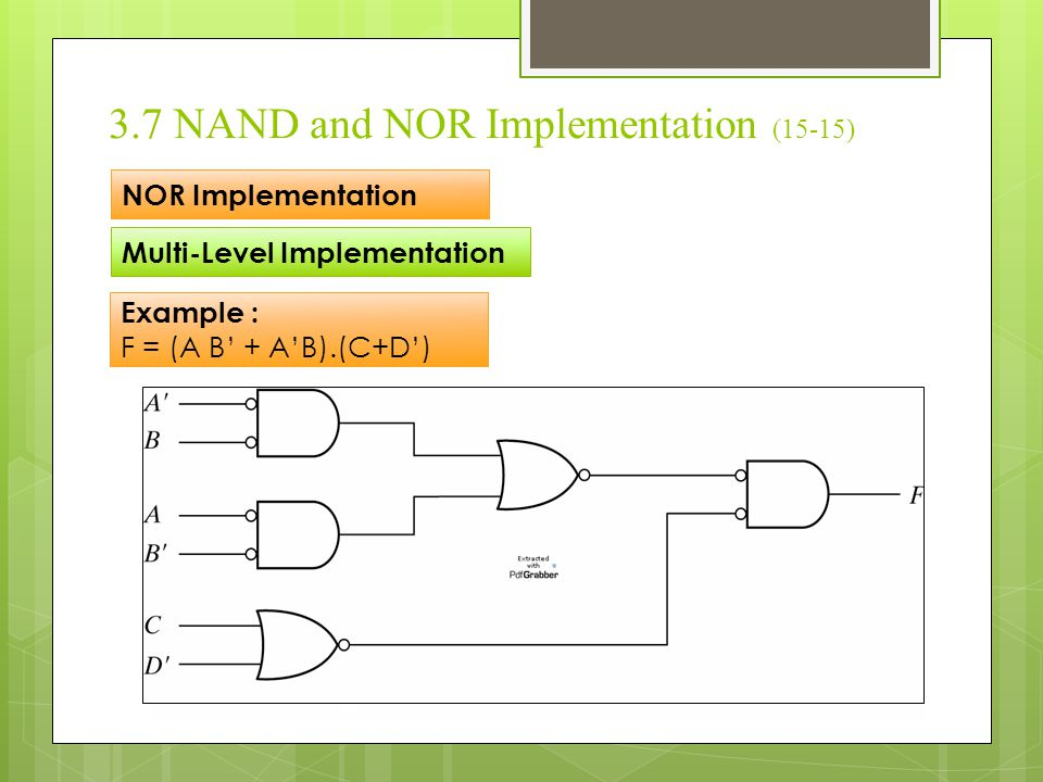 3.7 NAND and NOR Implementation (15-15)