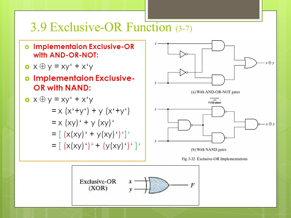 3.9 Exclusive-OR Function (3-7)