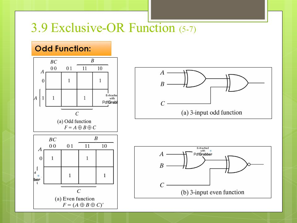 3.9 Exclusive-OR Function (5-7)