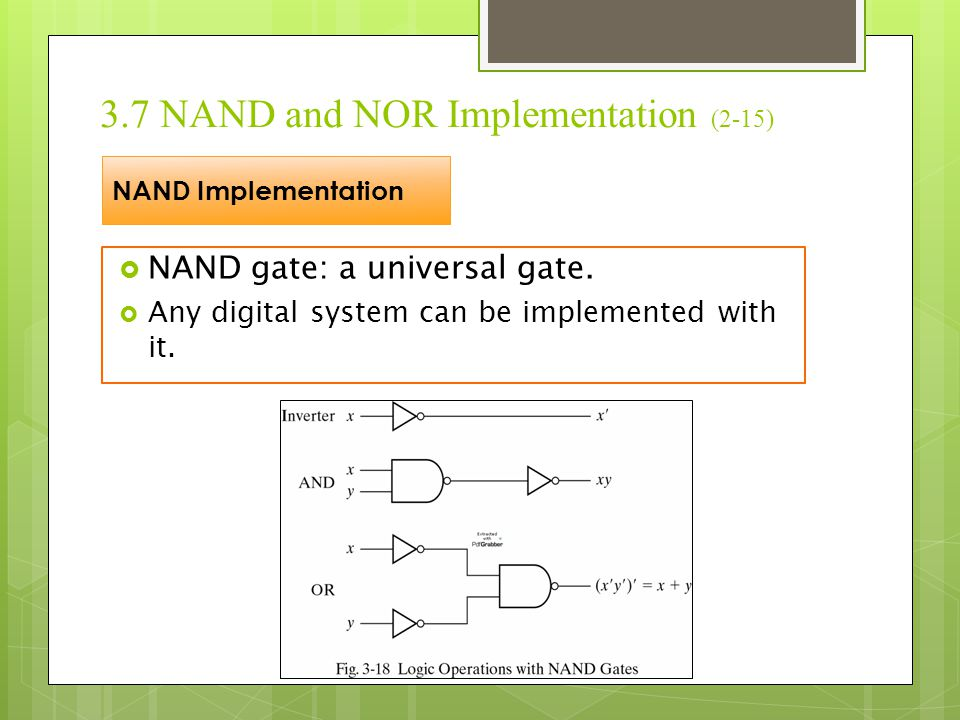 3.7 NAND and NOR Implementation (2-15)