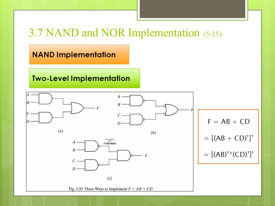 3.7 NAND and NOR Implementation (5-15)