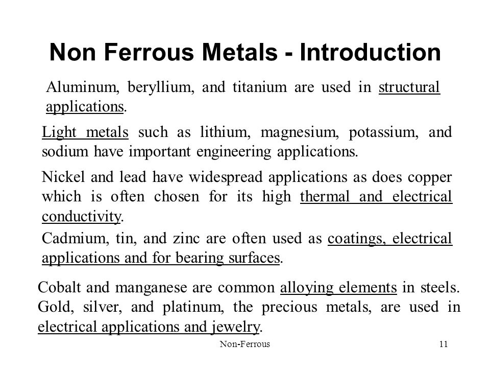 Non Ferrous Metals - Introduction