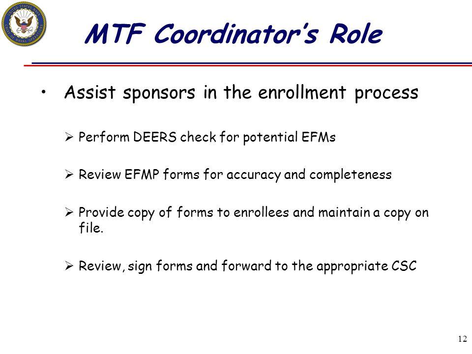 MTF Coordinator's Role