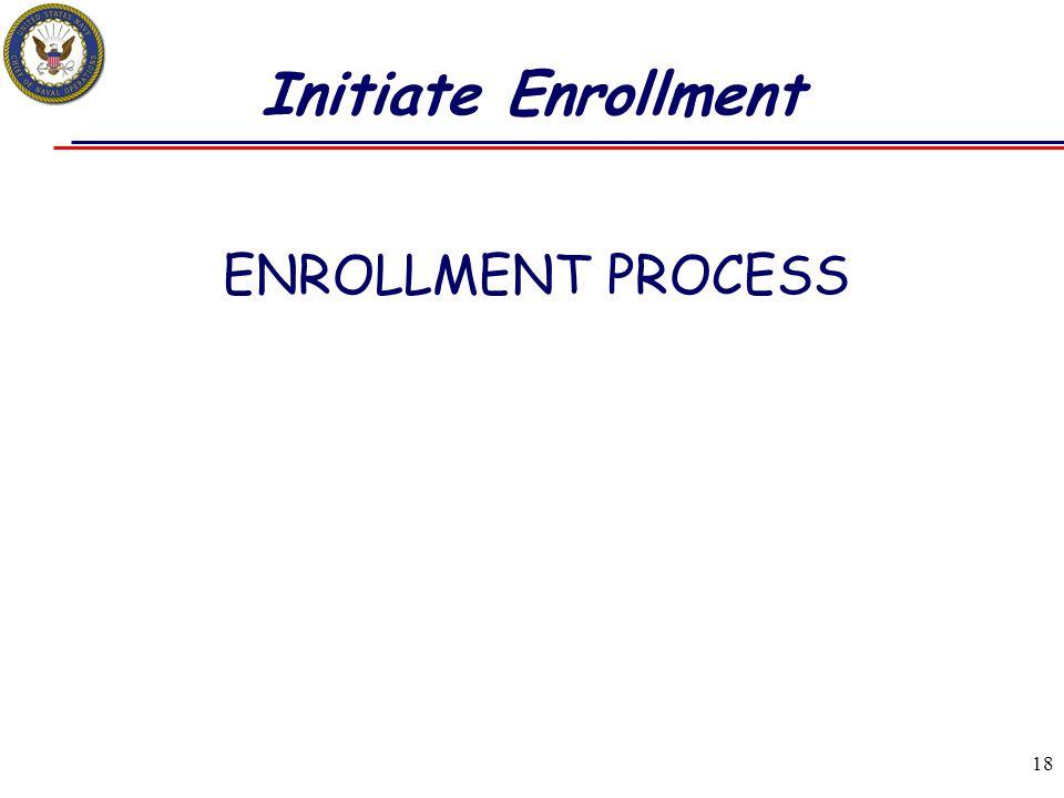 Initiate Enrollment ENROLLMENT PROCESS