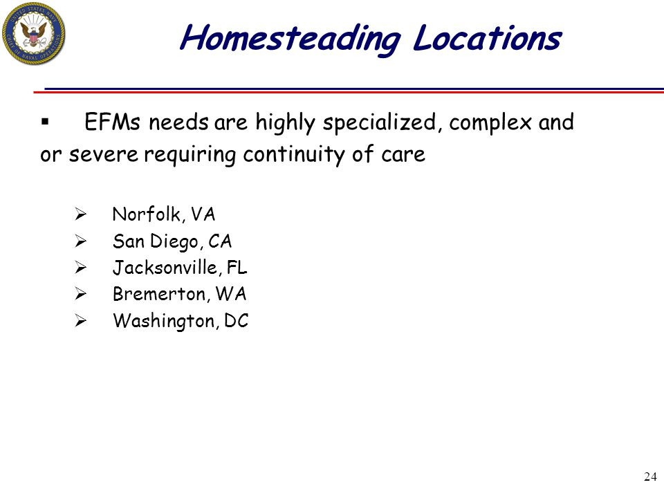 Homesteading Locations
