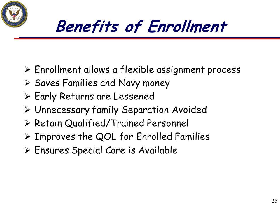 Benefits of Enrollment