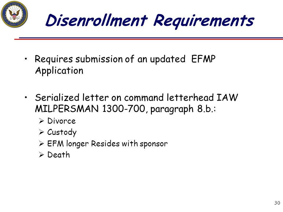 Disenrollment Requirements