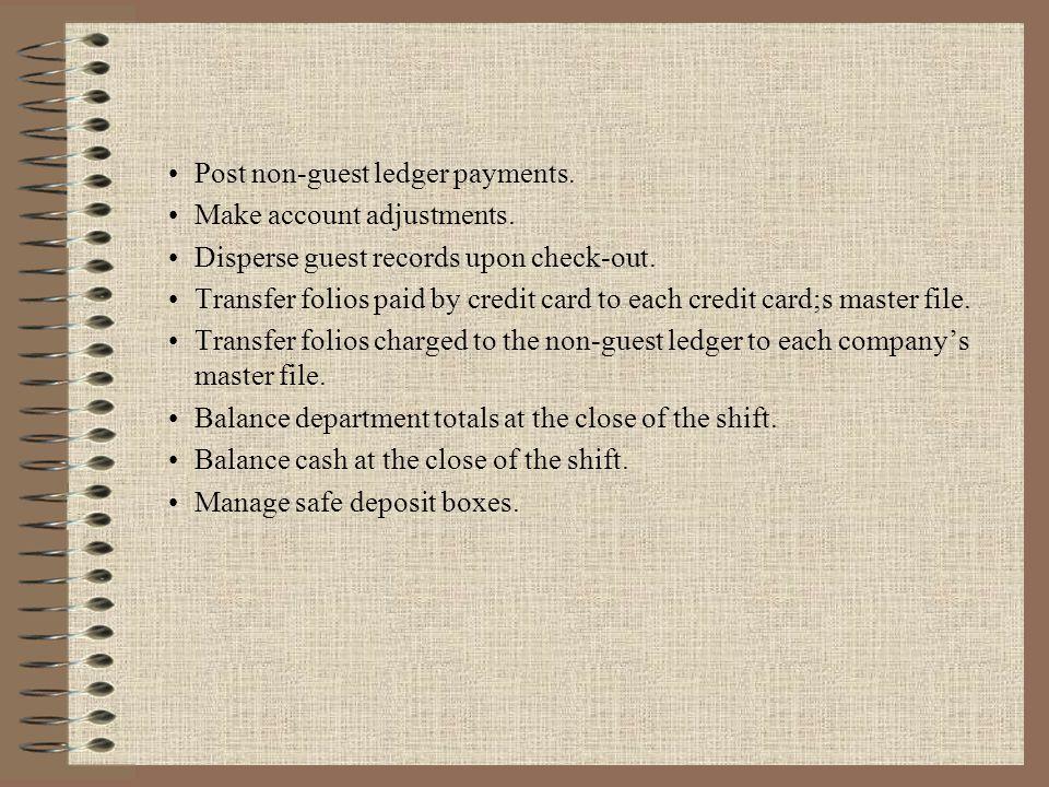 Post non-guest ledger payments.