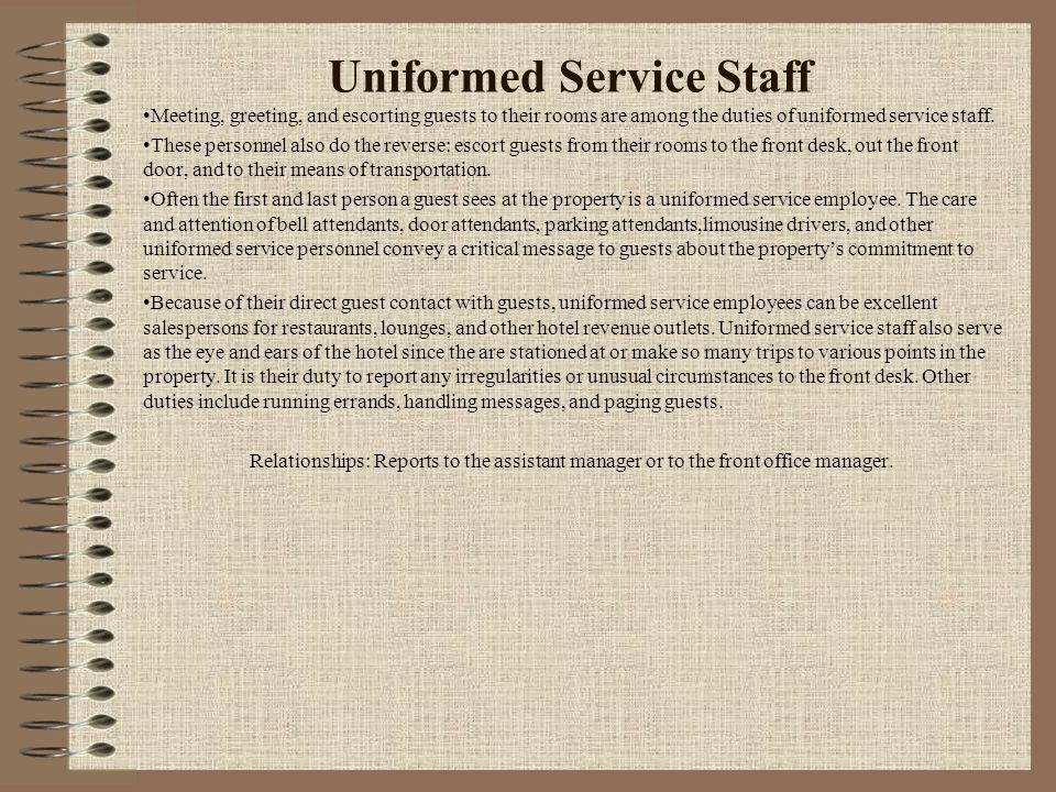 Uniformed Service Staff