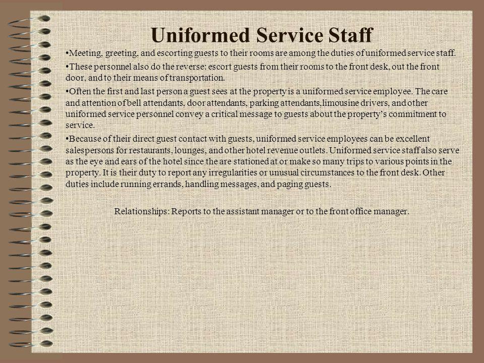 Uniformed Service Staff