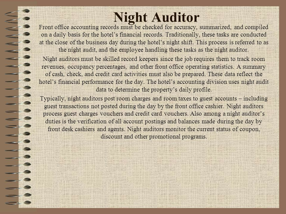 Night Auditor