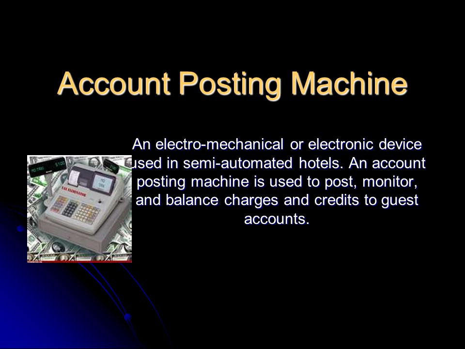 Account Posting Machine
