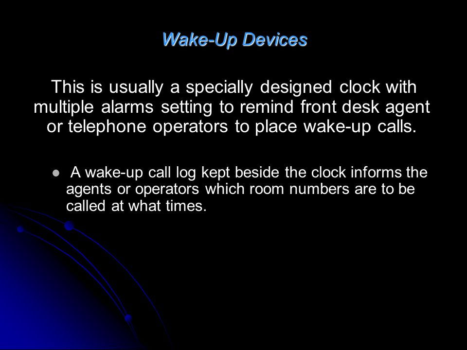 Wake-Up Devices