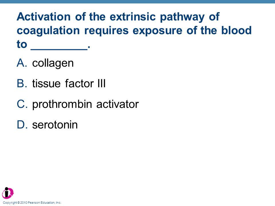 prothrombin activator serotonin