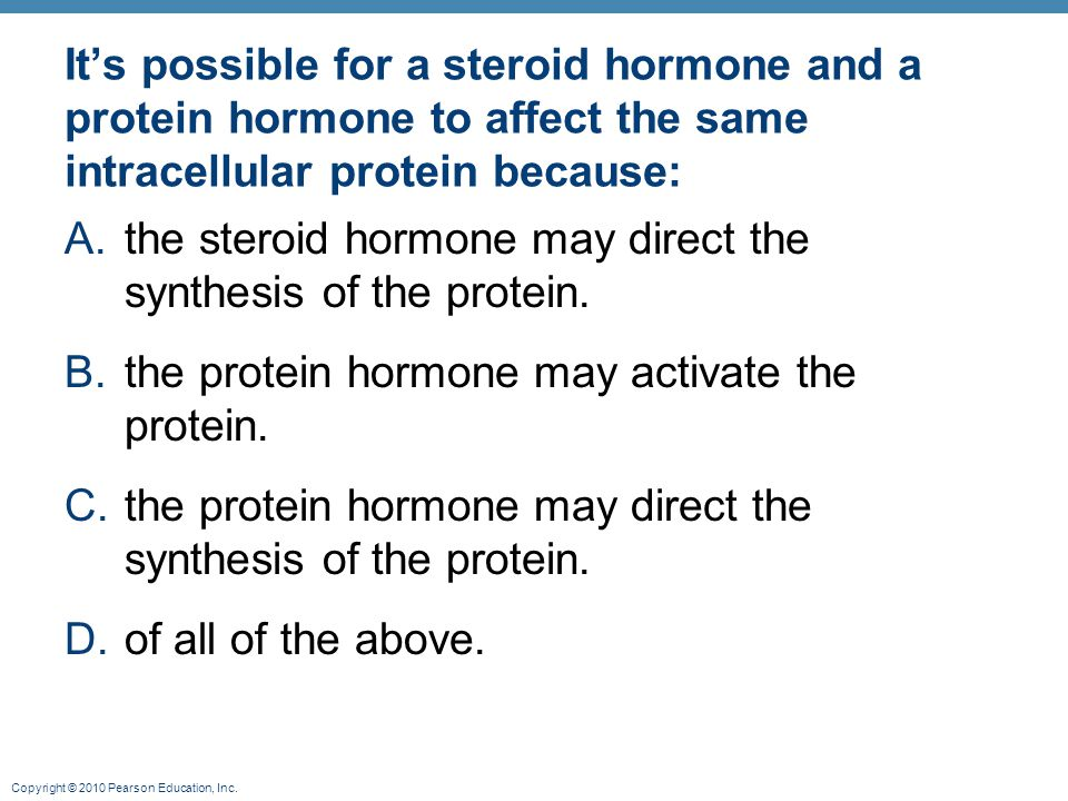 the steroid hormone may direct the synthesis of the protein.