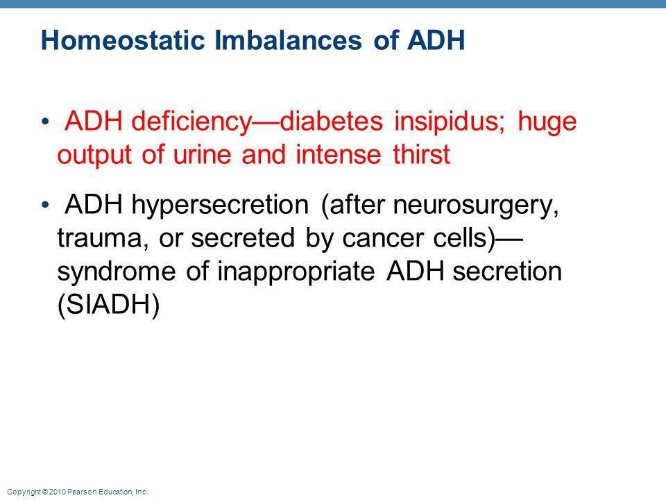 Homeostatic Imbalances of ADH