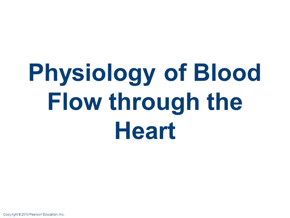 Physiology of Blood Flow through the Heart