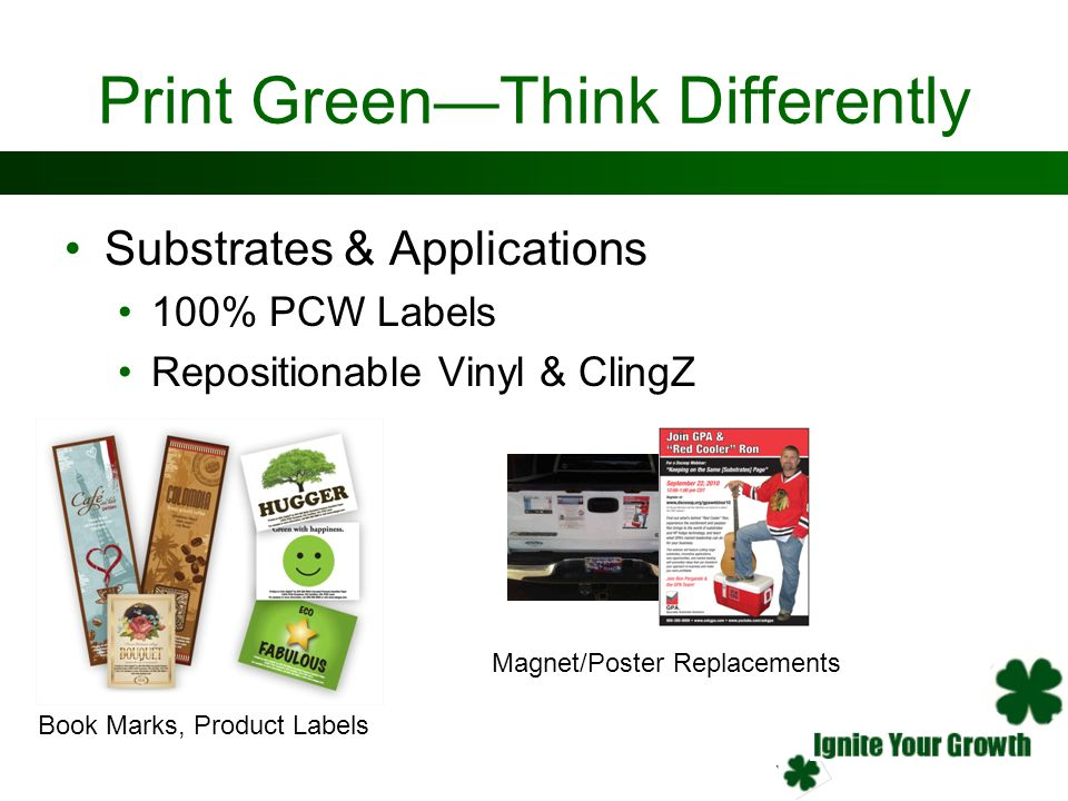 Print Green—Think Differently