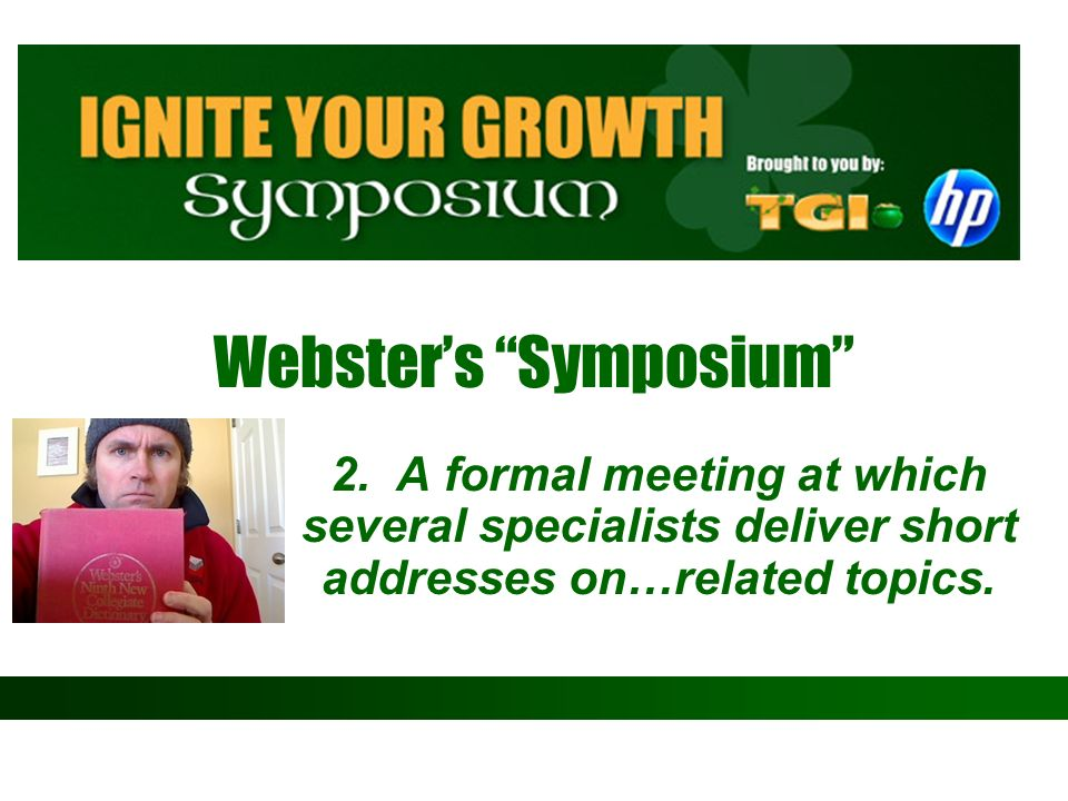 Webster's Symposium