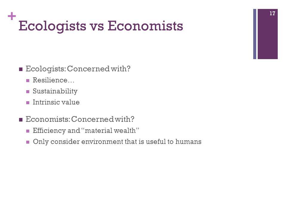 Ecologists vs Economists