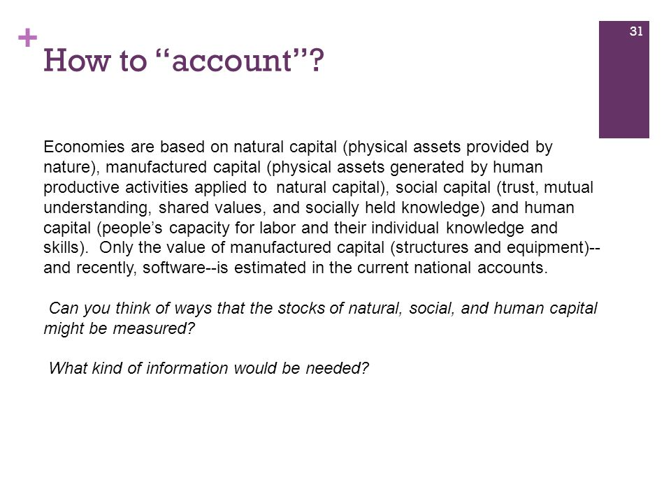 How to account