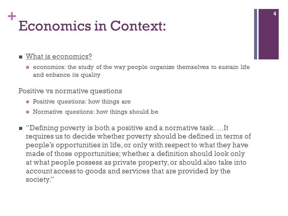 Economics in Context: What is economics