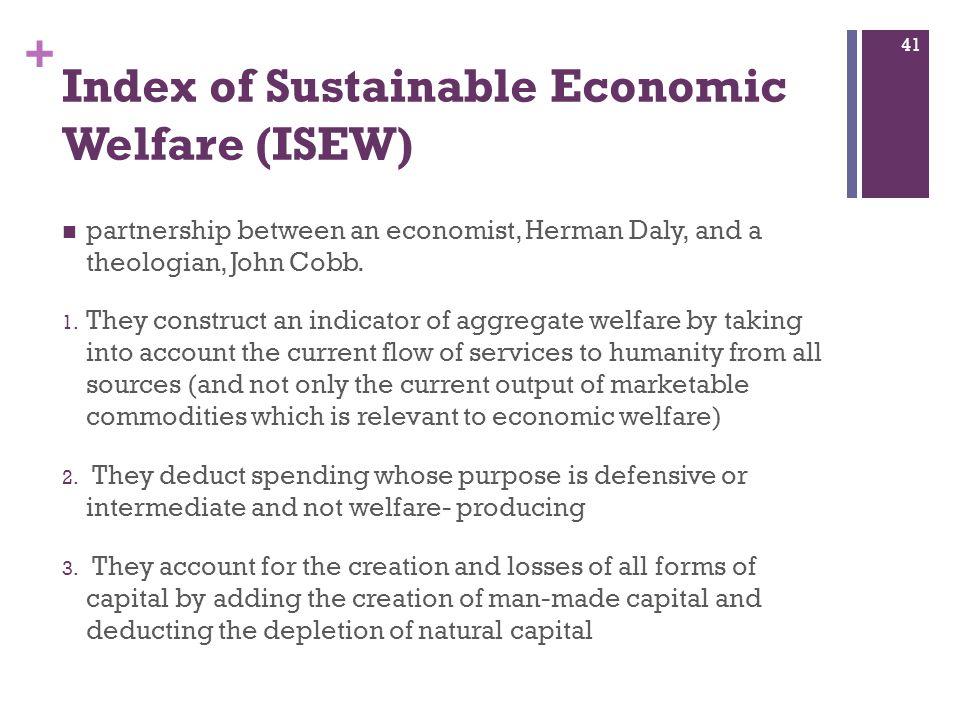 Index of Sustainable Economic Welfare (ISEW)