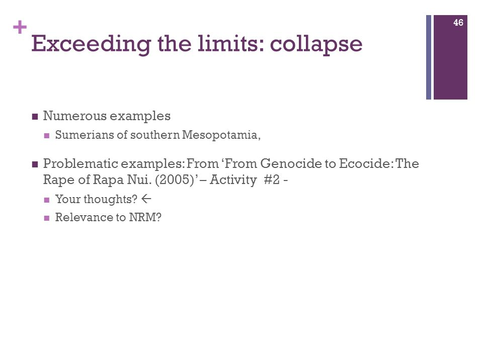 Exceeding the limits: collapse