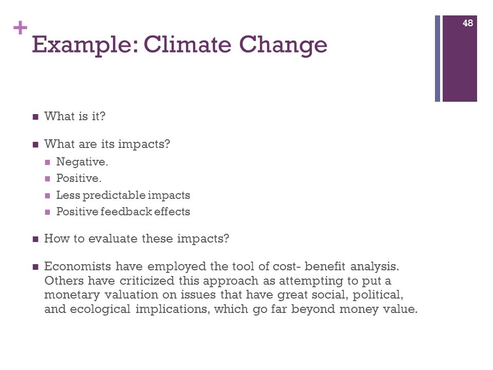 Example: Climate Change