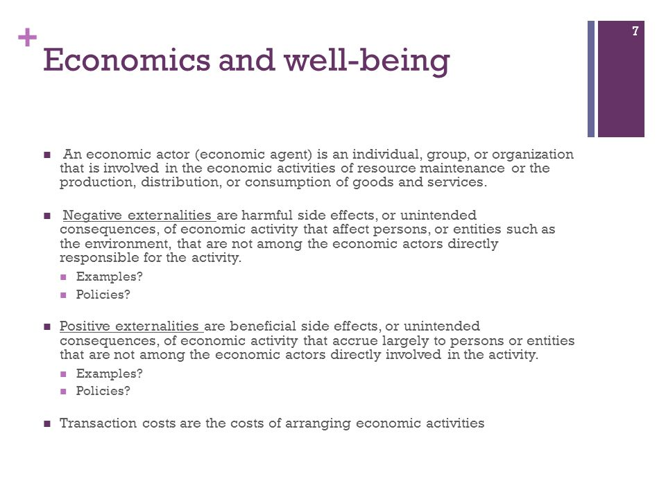 Economics and well-being