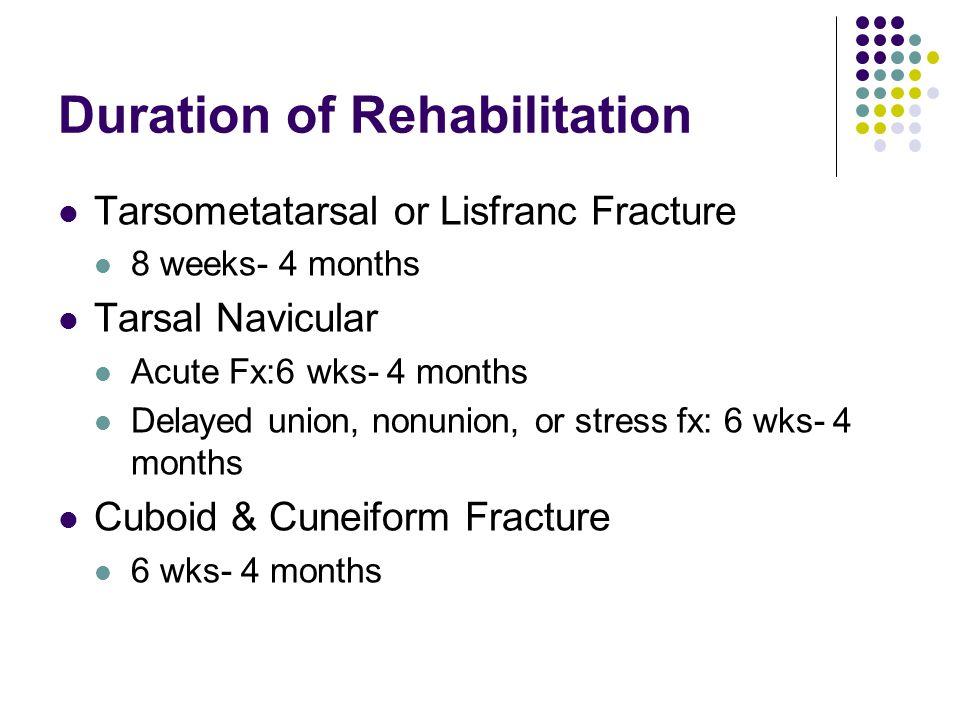 Duration of Rehabilitation