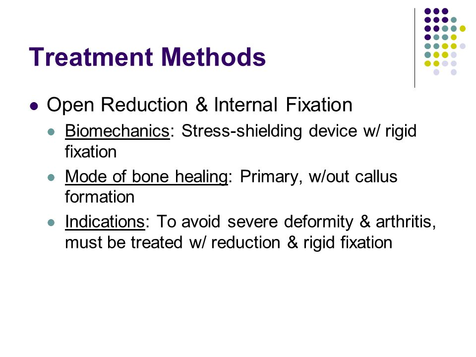 Treatment Methods Open Reduction & Internal Fixation