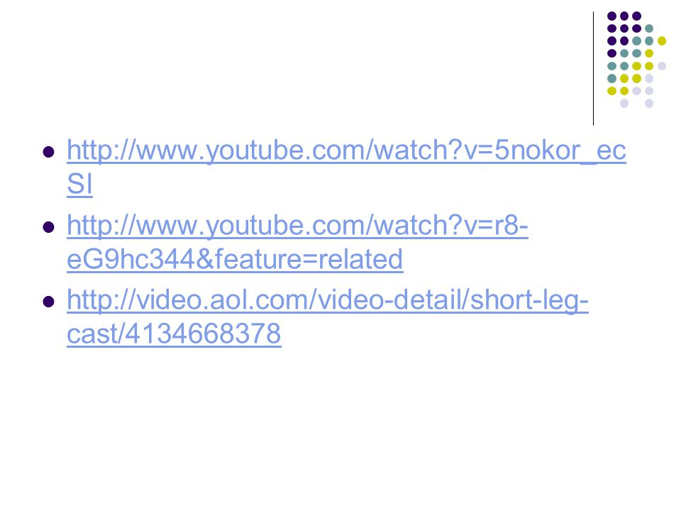 http://www.youtube.com/watch v=5nokor_ecSI http://www.youtube.com/watch v=r8-eG9hc344&feature=related.