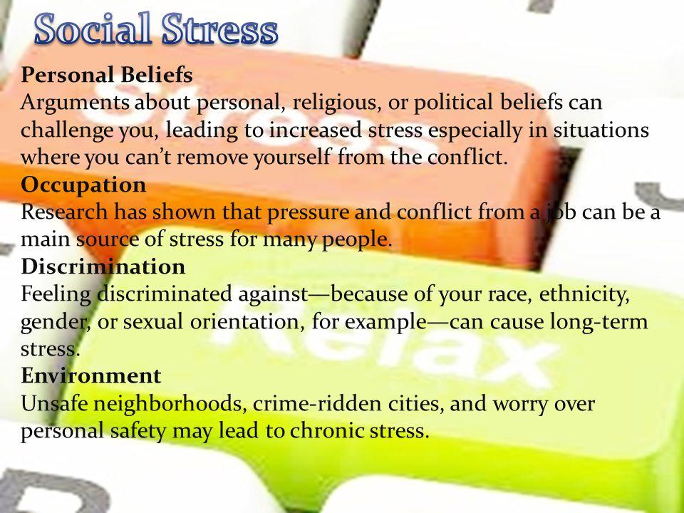 Social Stress Personal Beliefs