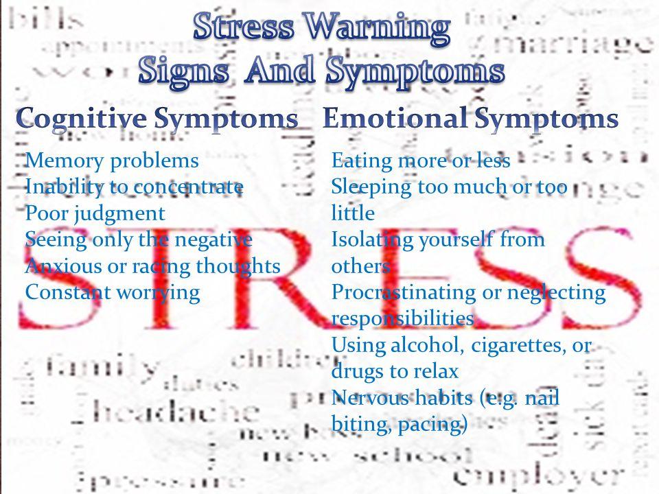 Stress Warning Signs And Symptoms