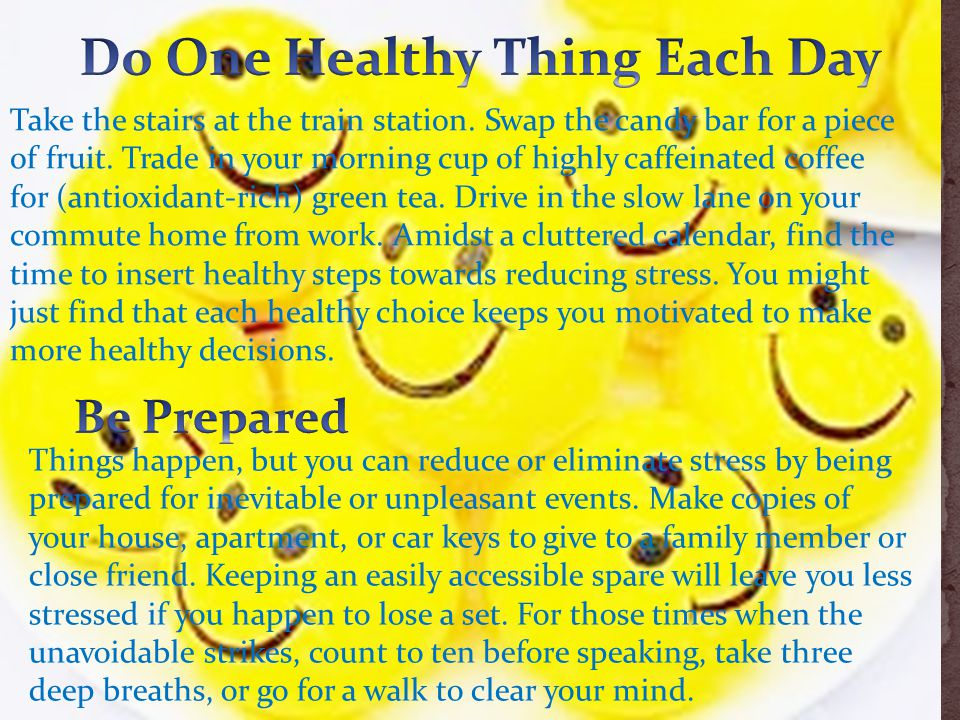 Do One Healthy Thing Each Day