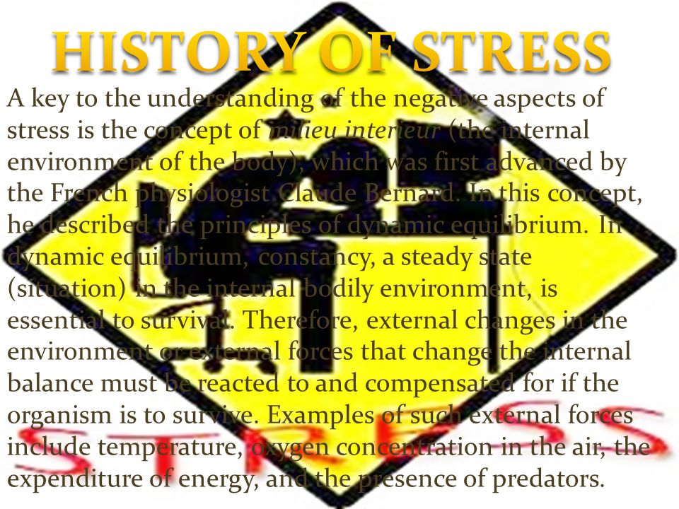 HISTORY OF STRESS
