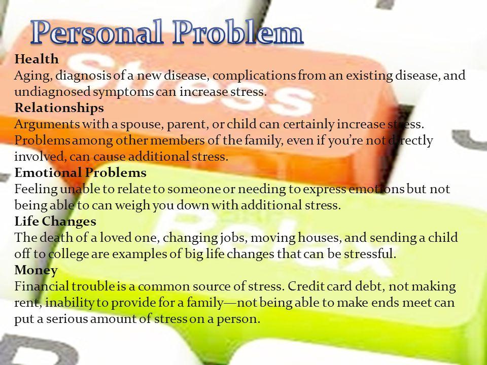 Personal Problem Health