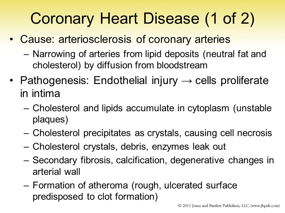Coronary Heart Disease (1 of 2)