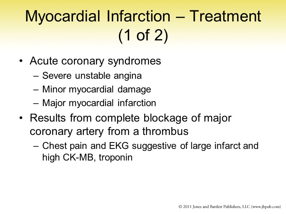 Myocardial Infarction – Treatment (1 of 2)