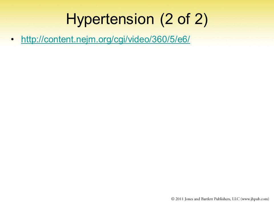 Hypertension (2 of 2)