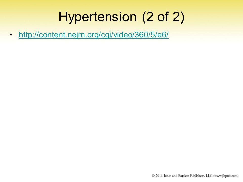 Hypertension (2 of 2) http://content.nejm.org/cgi/video/360/5/e6/