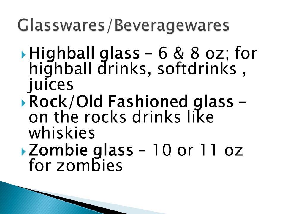 Glasswares/Beveragewares