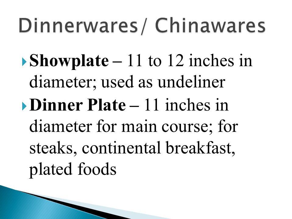 Dinnerwares/ Chinawares