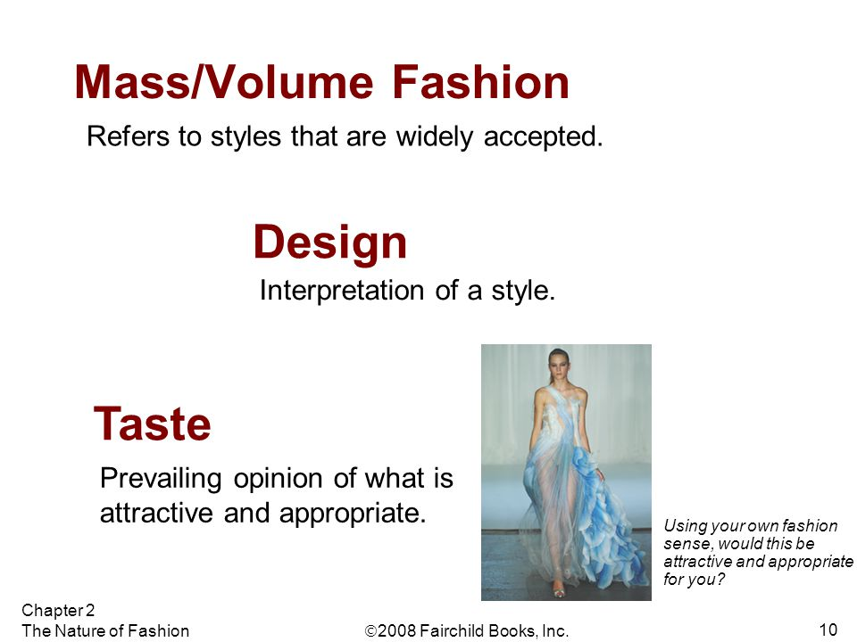 Mass/Volume Fashion Design Taste