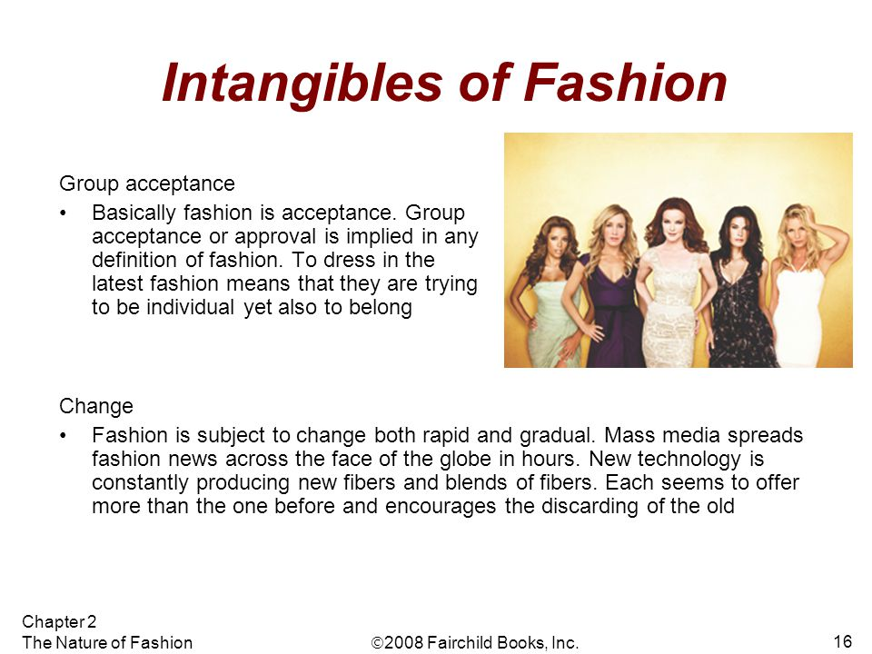 Intangibles of Fashion