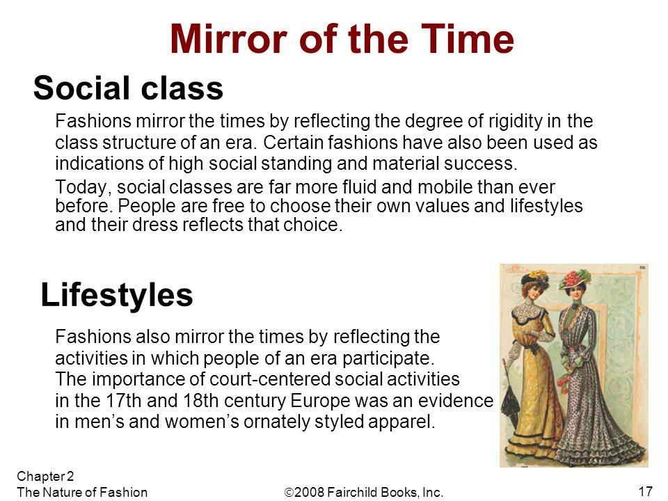 Mirror of the Time Social class Lifestyles