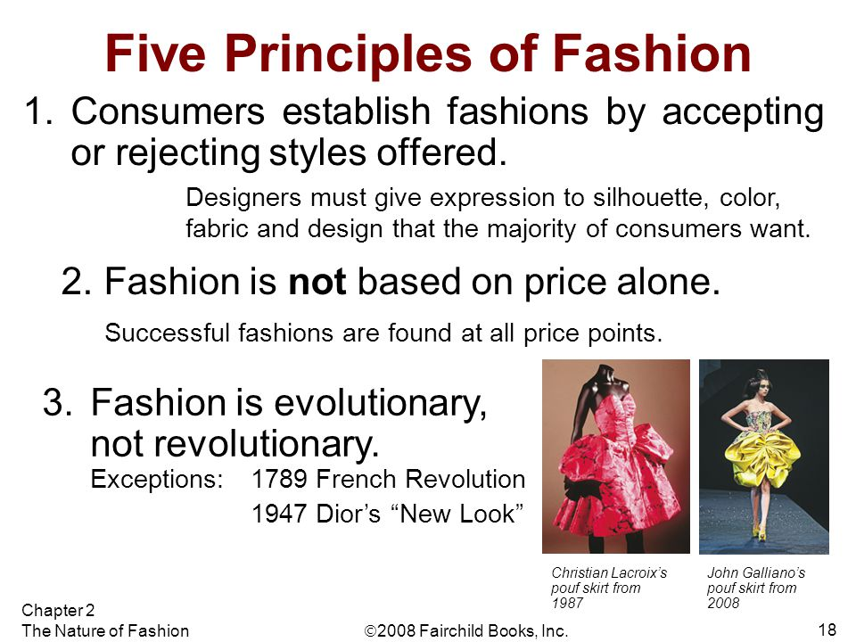 Five Principles of Fashion